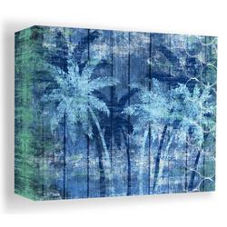 20'' Blue Palm Trees Canvas Wall Art