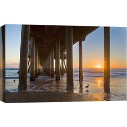 PTM Images Huntington Beach Pier 6 Canvas Wall