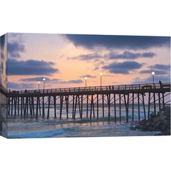 PTM Images Oceanside Pier 3 Canvas Wall Art