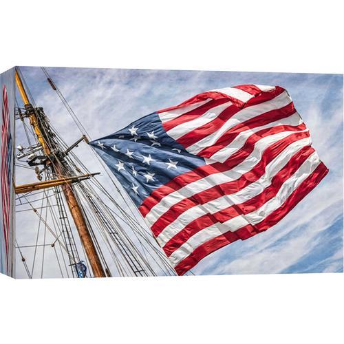 Ptm Images Tall Ship American Flag Canvas Wall Art Bealls Florida
