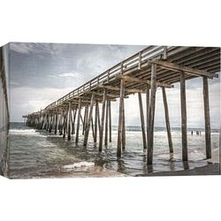 PTM Images Old Wooden Pier Canvas Wall Art