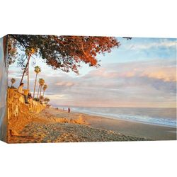 Butterfly Beach Sunset Canvas Wall Art
