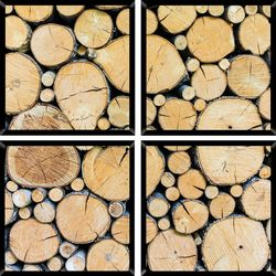 PTM Images Wood Quadriptych Wall Art Set