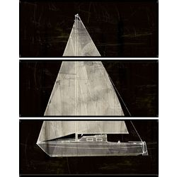 PTM Images Sailboat Triptych Wall Art Set