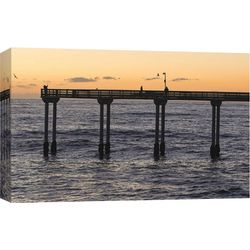 PTM Images Ocean Beach Pier Canvas Wall Art