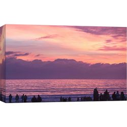 PTM Images Coronado Sunset Silhouettes Canvas Wall Art