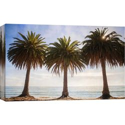 Three Palm Trees Canvas Wall Art