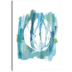 PTM Images Blue Watercolor 3 Canvas Wall Art