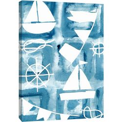 PTM Images Blue Watercolor 5 Canvas Wall Art