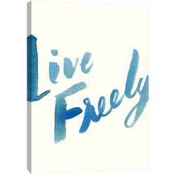 PTM Images Blue Live Freely Canvas Wall Art