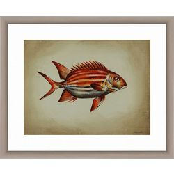 PTM Images Tropical Fish III Framed Wall Art
