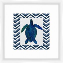 PTM Images Turtle Chevron Framed Wall Art