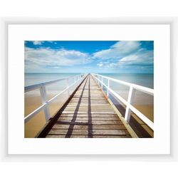 Looking Down The Pier Framed Wall Art