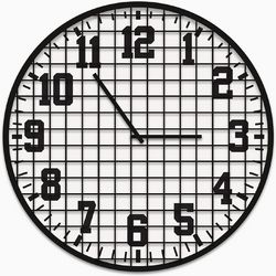 PTM Images Industrial Metal Clock