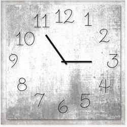 Silver Rustic Clock