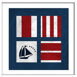 PTM Images Nautical Squads IV Shadowbox Wall Art