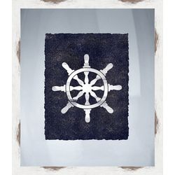 PTM Images Nautical Icons I Framed Wall Art