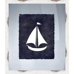 Nautical Icons IV Framed Wall Art