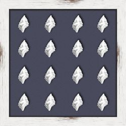 PTM Images Silver Shells I Shadowbox Wall Art