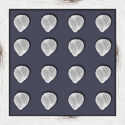 Silver Shells II Shadowbox Wall Art