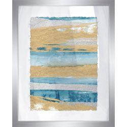 PTM Images Shiny Coastal Sands I Framed Wall Art