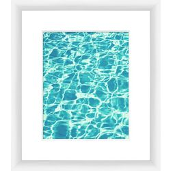 Clear Aquas III Framed Wall Art