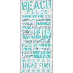 PTM Images Turquoise Beach Rules Canvas Art