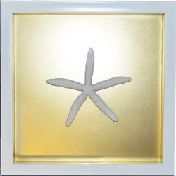 Gold Starfish Shadowbox Wall Art