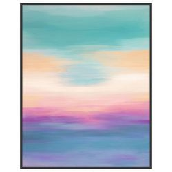PTM Images Pink Ocean View Framed Wall Art