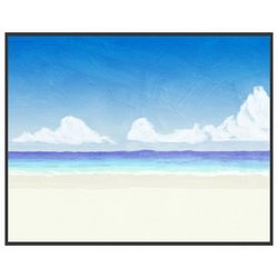 PTM Images A Day at the Beach Framed Wall Art
