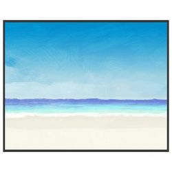 PTM Images A Day at the Beach II Framed Wall Art