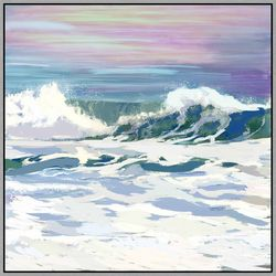 PTM Images Surfs Up Framed Wall Art
