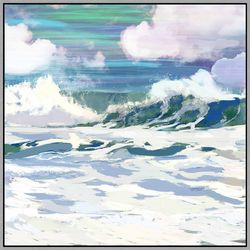 PTM Images Surfs Up II Framed Wall Art
