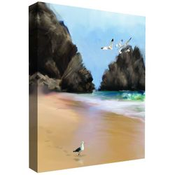PTM Images A Walk On The Beach II Canvas Wall Art