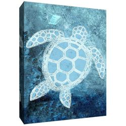 PTM Images Turtle Under The Sea Canvas Wall Art