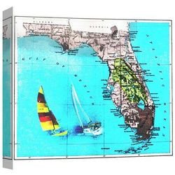 PTM Images Florida Map Canvas Wall Art