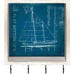 PTM Images Flat Bottom Boat Shadowbox With Hooks
