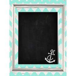 Anchor Chevron Chalkboard