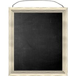 Beige Frame Chalkboard With Wire