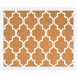 White Pattern Corkboard