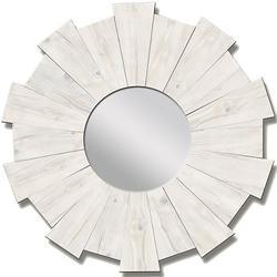 White Wash Burst Mirror