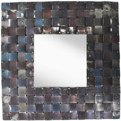 PTM Images Metal Basket Weave Mirror