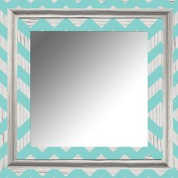 PTM Images White Wash Chevron Mirror