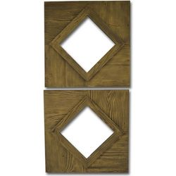PTM Images Diamond Cut Out 2-pc. Mirror Set