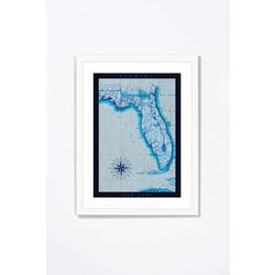 PTM Images Map Of the Sunshine State Framed Wall Art
