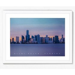 PTM Images Miami Beach Florida Skyline Framed Wall Art