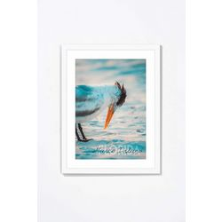 PTM Images Bird In The Beach Framed Wall Art
