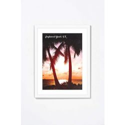 PTM Images Two Palms At Sunset Framed Wall Art