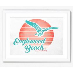 PTM Images Classic Englewood Beach Framed Wall Art