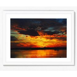 PTM Images Best Sunset II Naples Florida Framed Wall Art